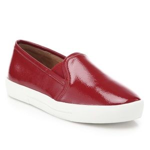 Joie Huxley Patent Leather Red Slip On Sneakers